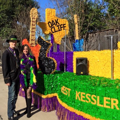 Oak Cliff Mardi Gras Parade by WKNA 9